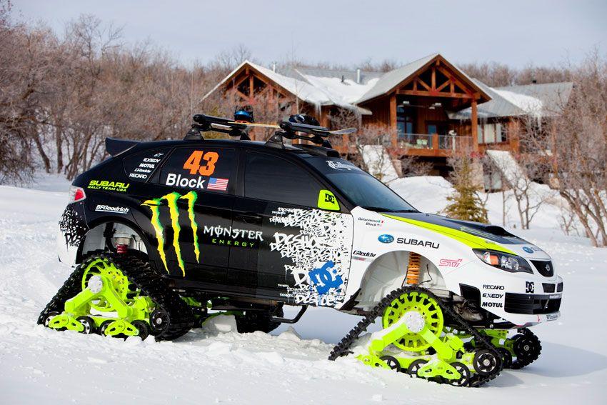 subaru trax sti ken block monster snow cat track truck. Black Bedroom Furniture Sets. Home Design Ideas