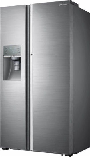 Samsung Showcase 28 7 Cu Ft Side By Side Refrigerator With Thru The Door Ice Counter Depth Stainless Steel Refrigerator Side By Side Refrigerator