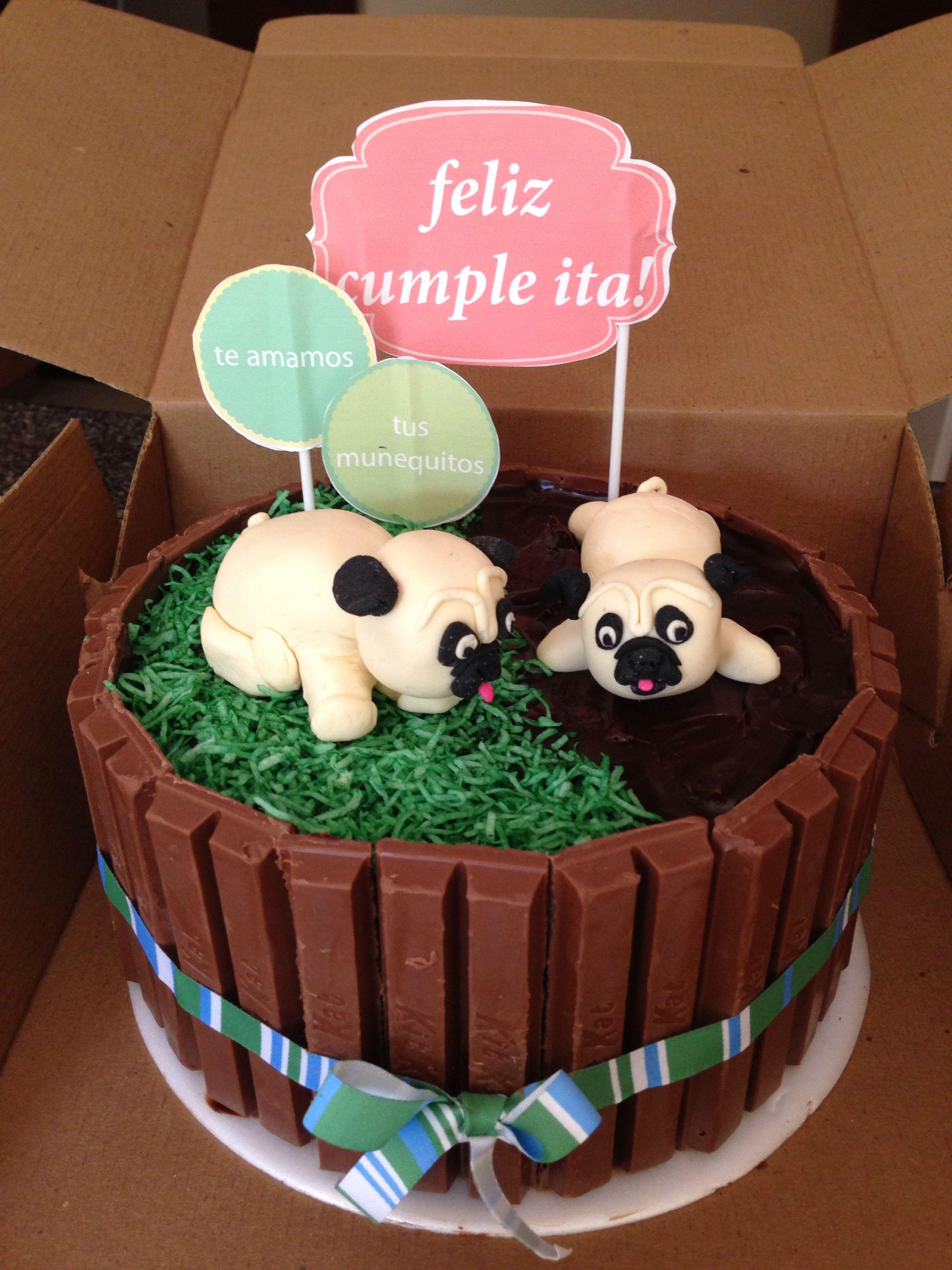 Pugs cake hug a pug pinterest pug cake cake and dog cupcakes