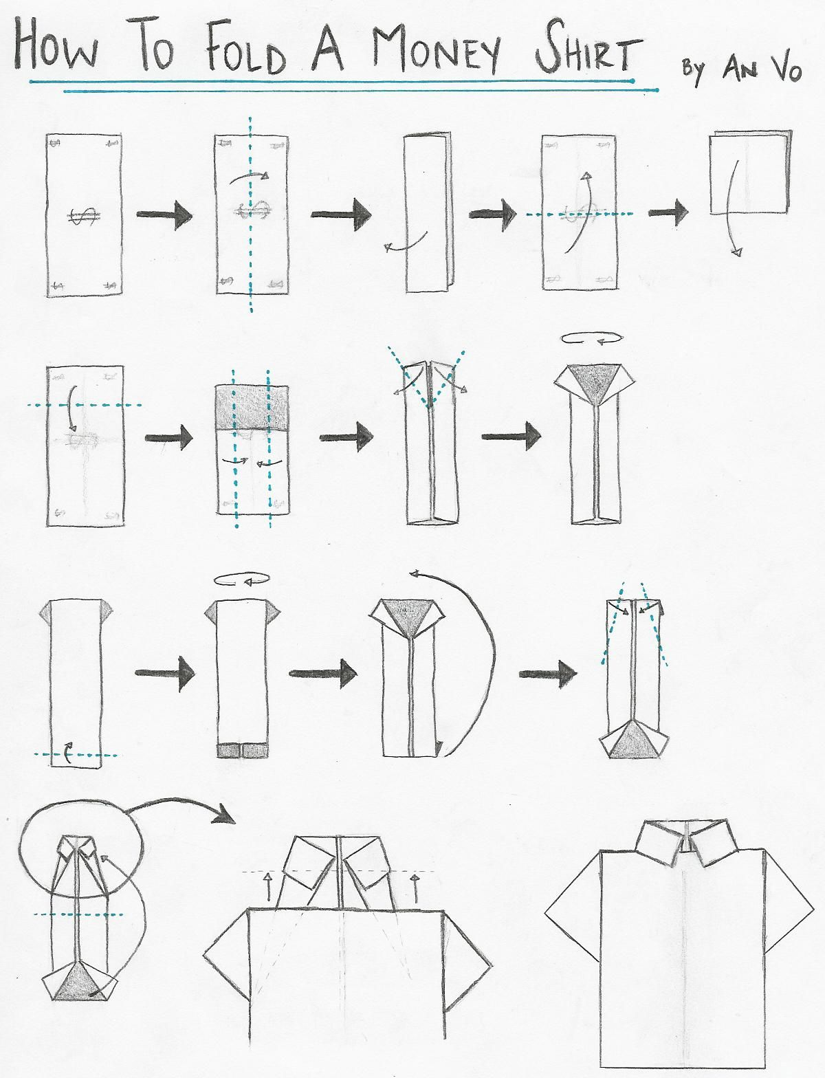 How to fold origami shirt and origami tie! | Origami Paper ... - photo#3