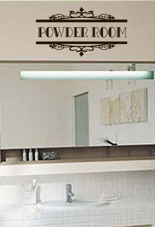 Powder Room Bathroom Vinyl Wall Art By Designstudiosigns On Etsy, $28.50, I  Really Love