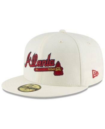 various colors dda9e 6235c New Era Atlanta Braves Vintage World Series Patch 59FIFTY Cap - White 7 1 4