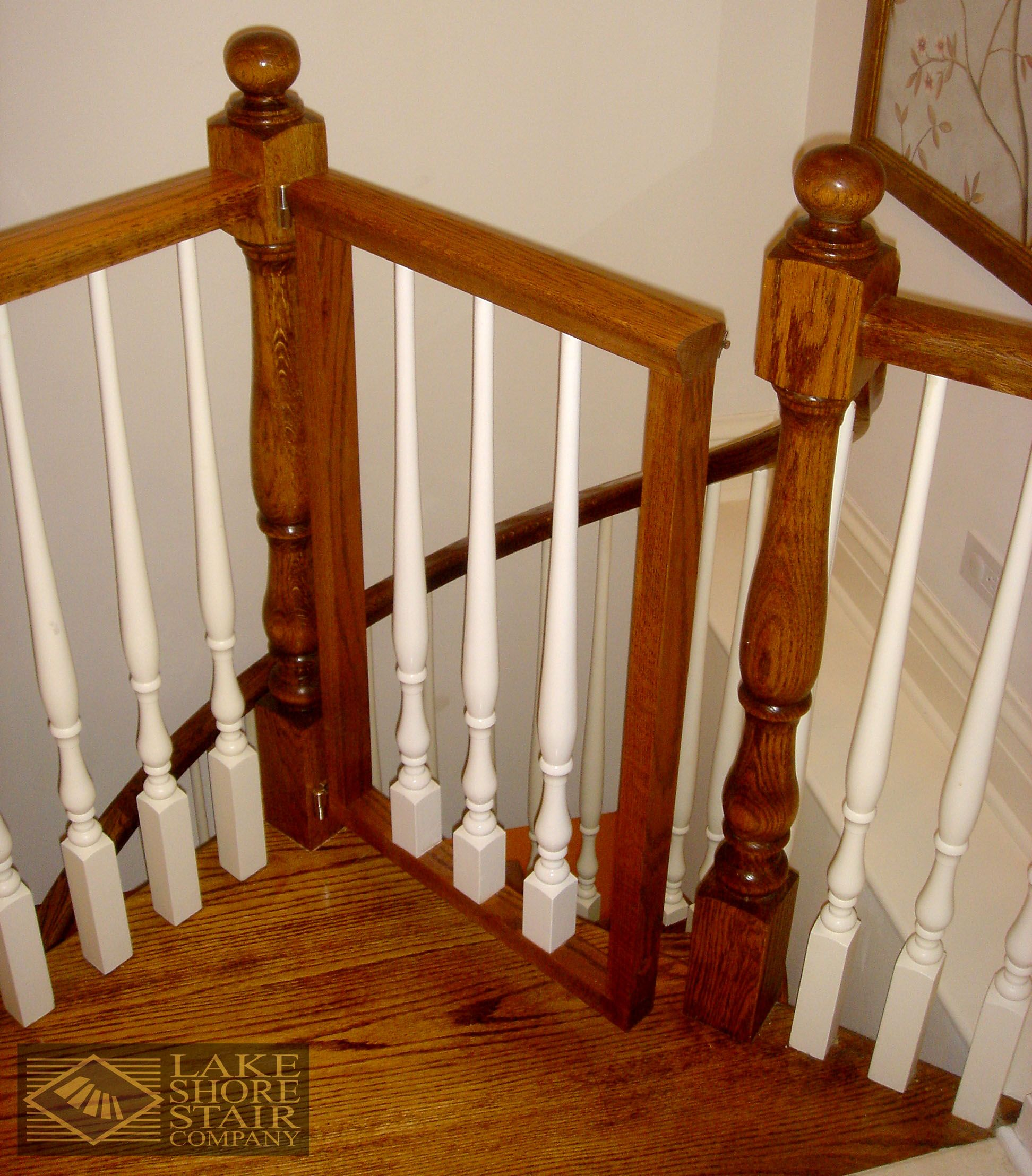 Custom Designed Baby Gate For The Top Of A Spiral Stair