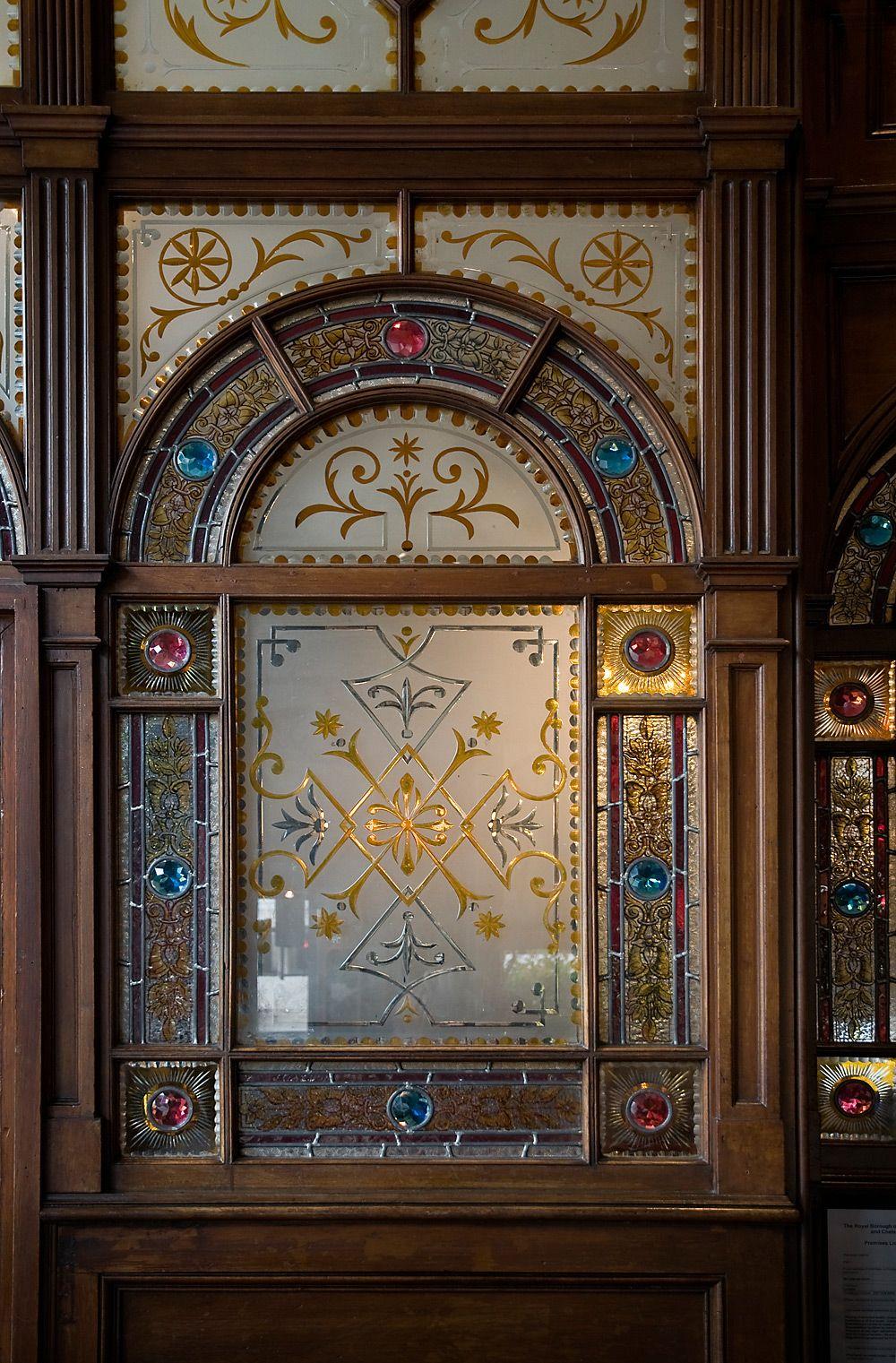 Victorian Reverse Glass David Smith Traditional Ornamental