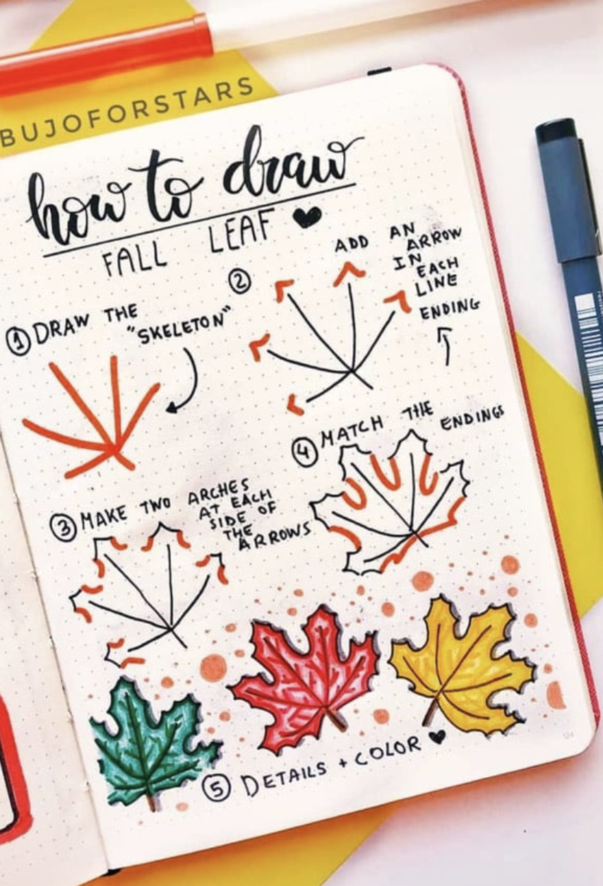 100 Bullet Journal Fall Halloween Doodle Ideas in 2020