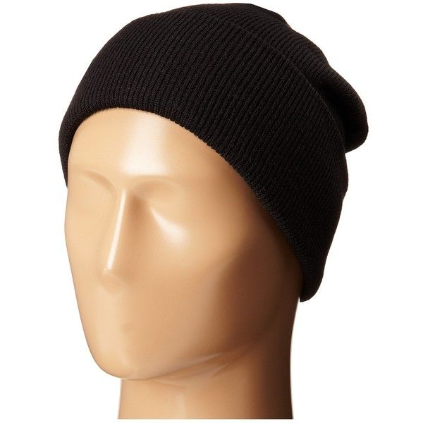 Coal The Uniform (Solid Black 1) Beanies ($13) ❤ liked on Polyvore featuring accessories, hats, black, acrylic beanie, acrylic beanie hat, beanie cap hat, coal hats and coal beanie
