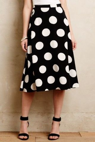 Deco Dot Midi Skirt