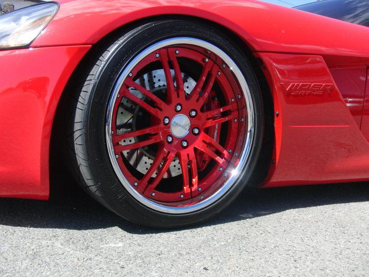 Dodge Viper Tires >> Color Matched Wheels On A Dodge Viper Autosport Plus In