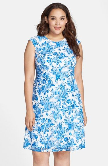 Chetta b floral lace dress