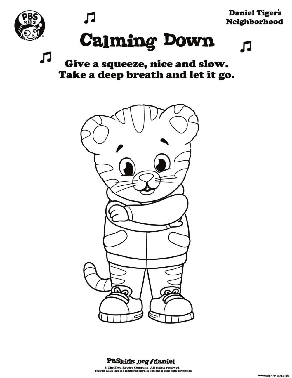 Print Calming Down Daniel Tiger Min Coloring Pages Daniel Tiger Coloring Pages Halloween Coloring Pages