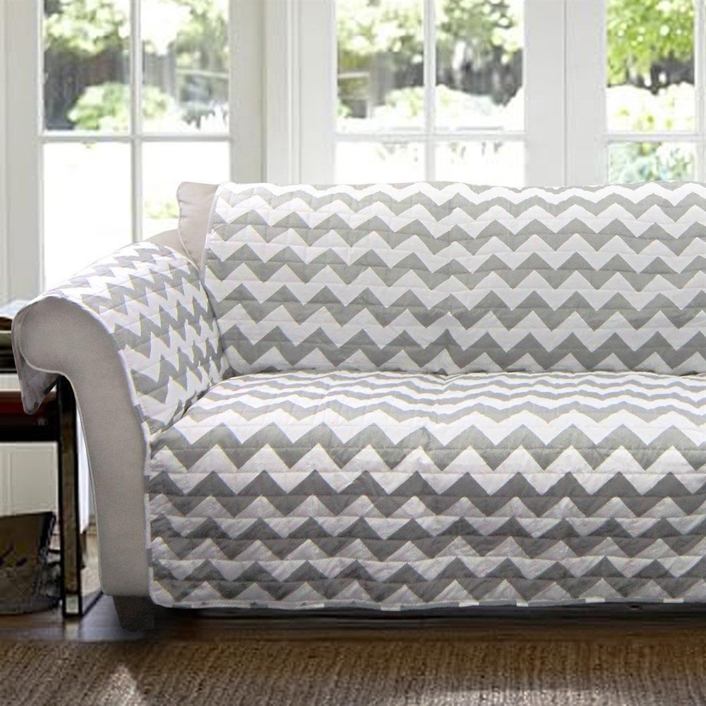 Love Seat Slip Cover Protector Couch Sofa Chevron Modern Chair ...