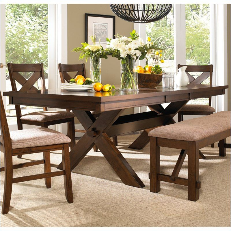 Lowest price online on all Powell Furniture Kraven Dining Table in