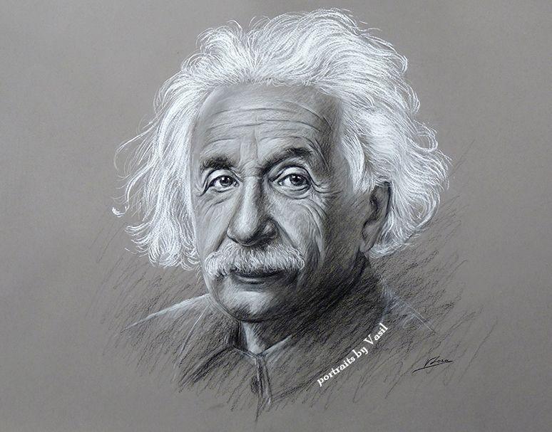 Albert Einstein by VasilArt    First pinned to Celebrity Art board here... http://www.pinterest.com/fairbanksgrafix/celebrity-art/ #Drawing #Art #CelebrityArt.