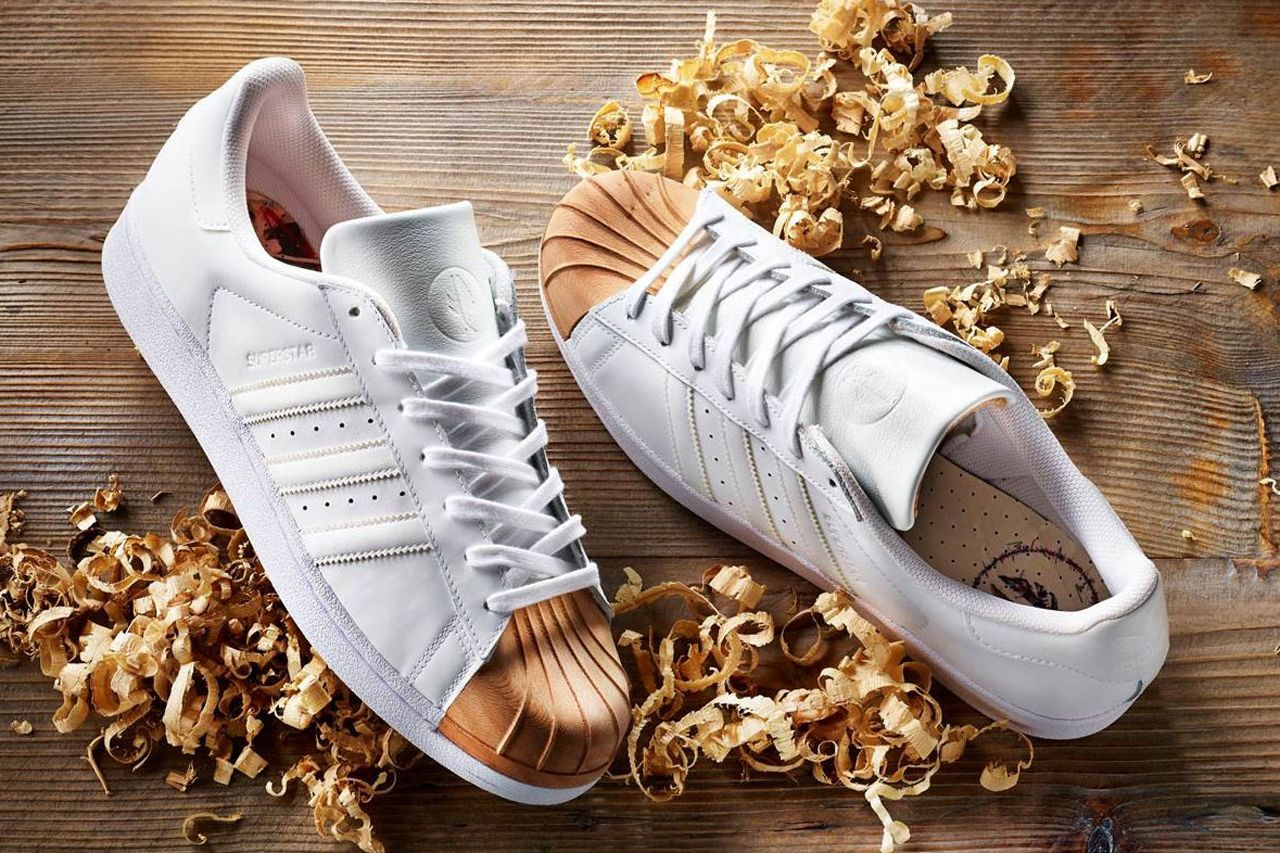 Wooden Shell Toe adidas Superstars in Collaboration With