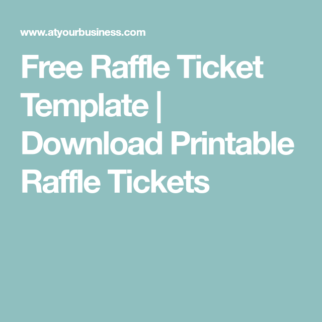 Free Printable Raffle Ticket Template Download Free Raffle Ticket Template  Download Printable Raffle Tickets .