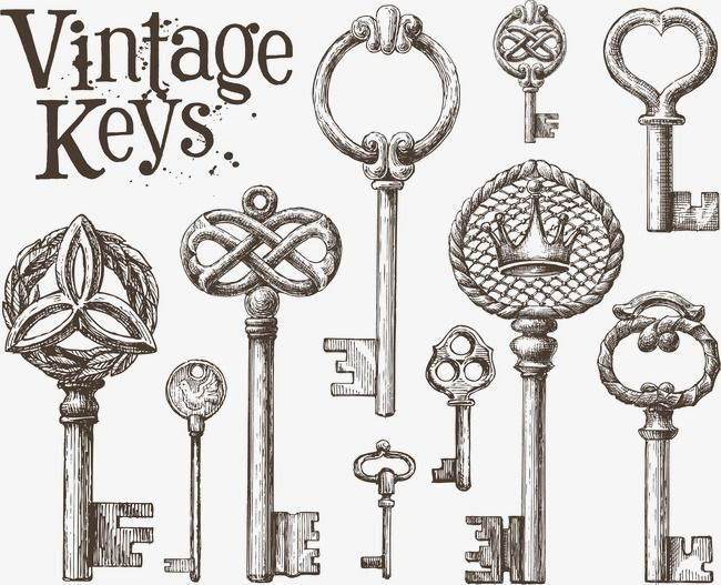 Key Antique Keys Vector Png Transparent Clipart Image And Psd File For Free Download Vintage Keys Key Drawings Vector Logo Design