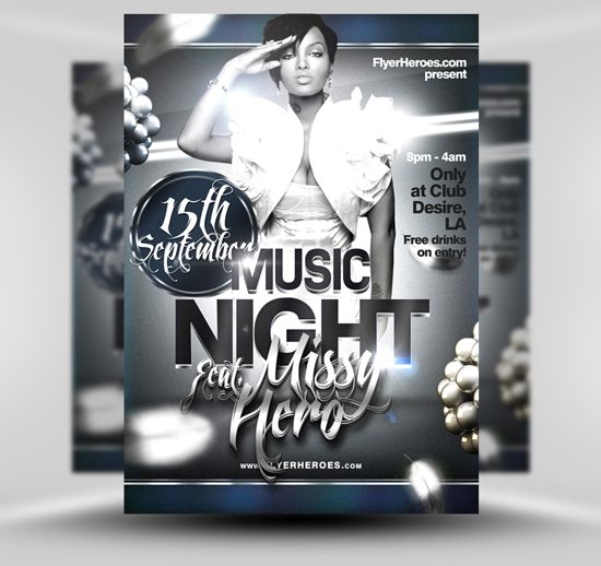 Free Club Flyer Template Psd Photoshop Template Free