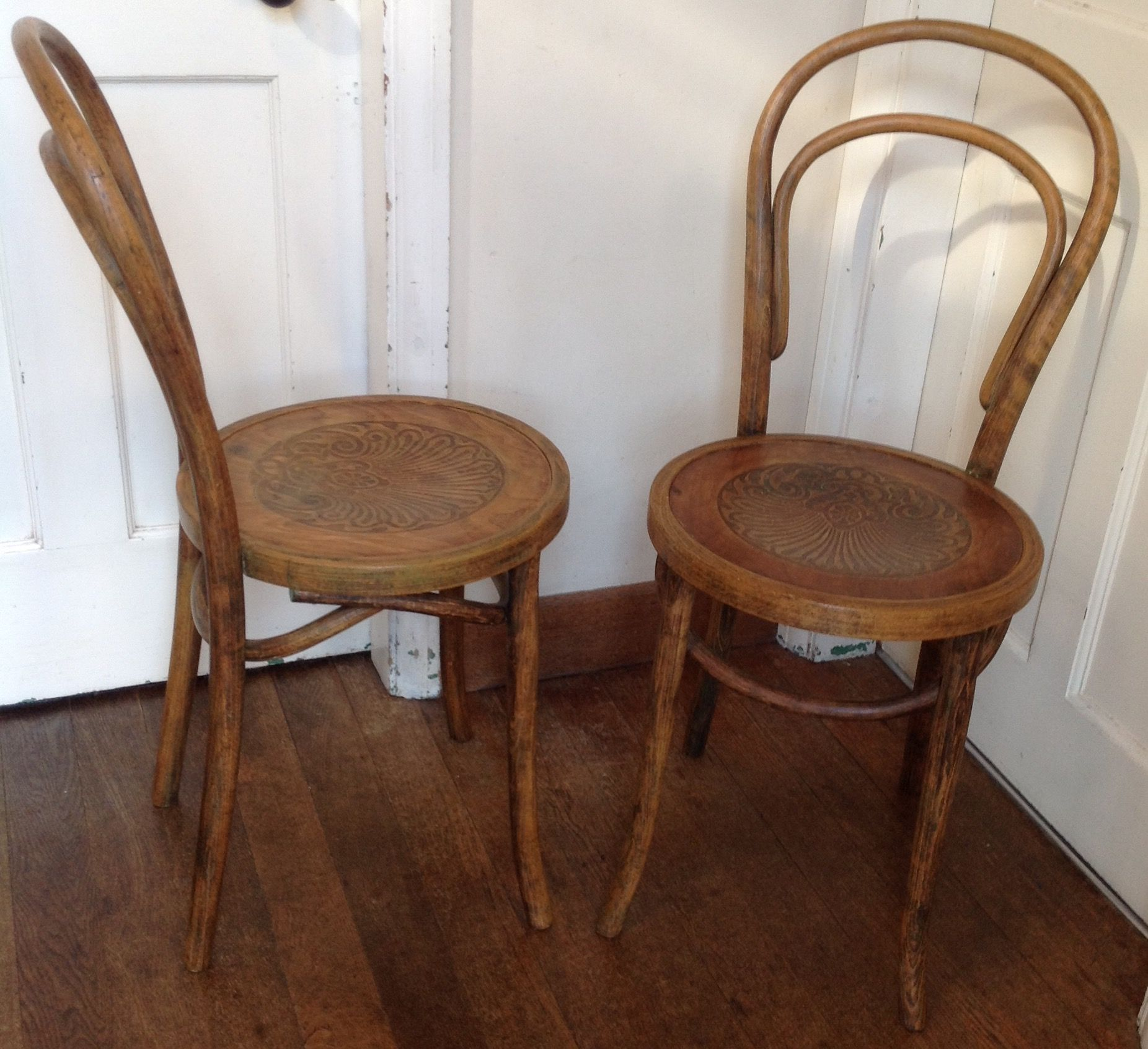 plastic bentwood bistro chairs hinkle rocking tennessee lovely pair of cafe austrian after