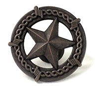 Superbe Wild Western Hardware Cabinet Knobs And Pulls Western Ornamental Star Knob  In Oil Rubbed Bronze   ( LL953 BRN )   Additional View