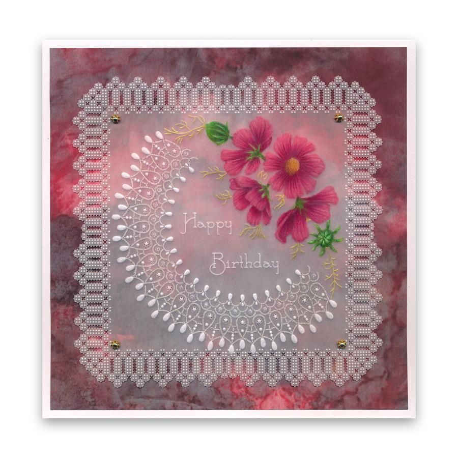 Clarity Stamps Tinas Christmas Candle Parchlet A6 Square Groovi Baby Plate