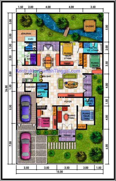 Cara Mudah Mendesain Denah Rumah Mewah Gaya Minimalis Modern 1 Lantai Denah Rumah Desain Rumah Mewah