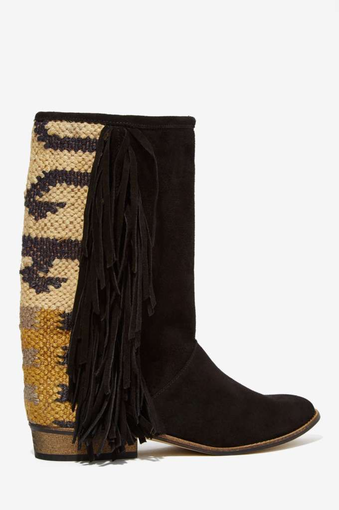 Howsty Boot Durie Fringe Suede Boot Howsty Zapatos please and thank you 4799bd