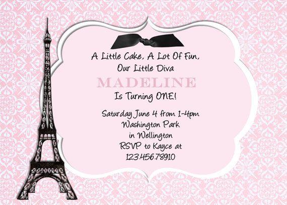Paris Eiffel Tower Birthday Invitation Sweet 16 By 3PeasPrints