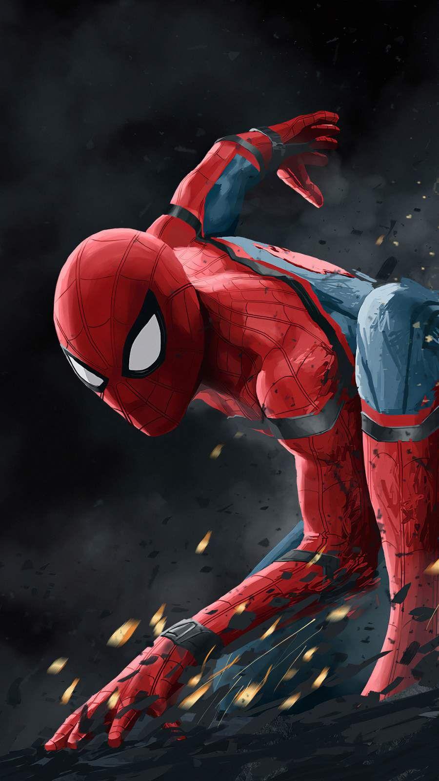 Spider Man Action Art Iphone Wallpaper Marvel Spiderman Art Spiderman Wallpaper Spiderman
