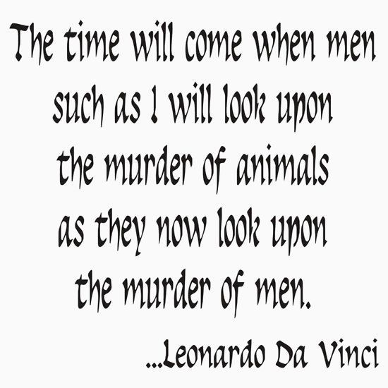 'Vegetarian Quote Leonardo Da Vinci' Sticker by T-ShirtsGifts #vegetarianquotes Vegetarian Quote Leonardo Da Vinci #vegetarianquotes