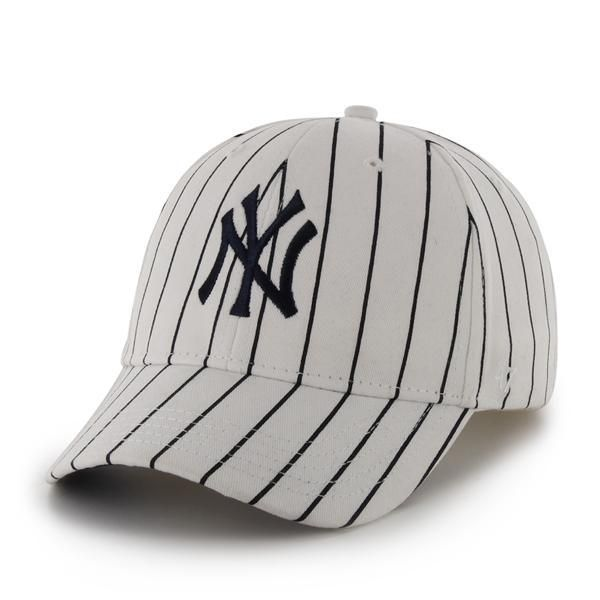 6185686bc88c2 New York Yankees 47 Brand Pinstripe White INFANT Hat
