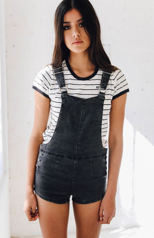 7c8a018b20 Afends Onyx Shorts Overalls - Stone Black from peppermayo.com   What ...