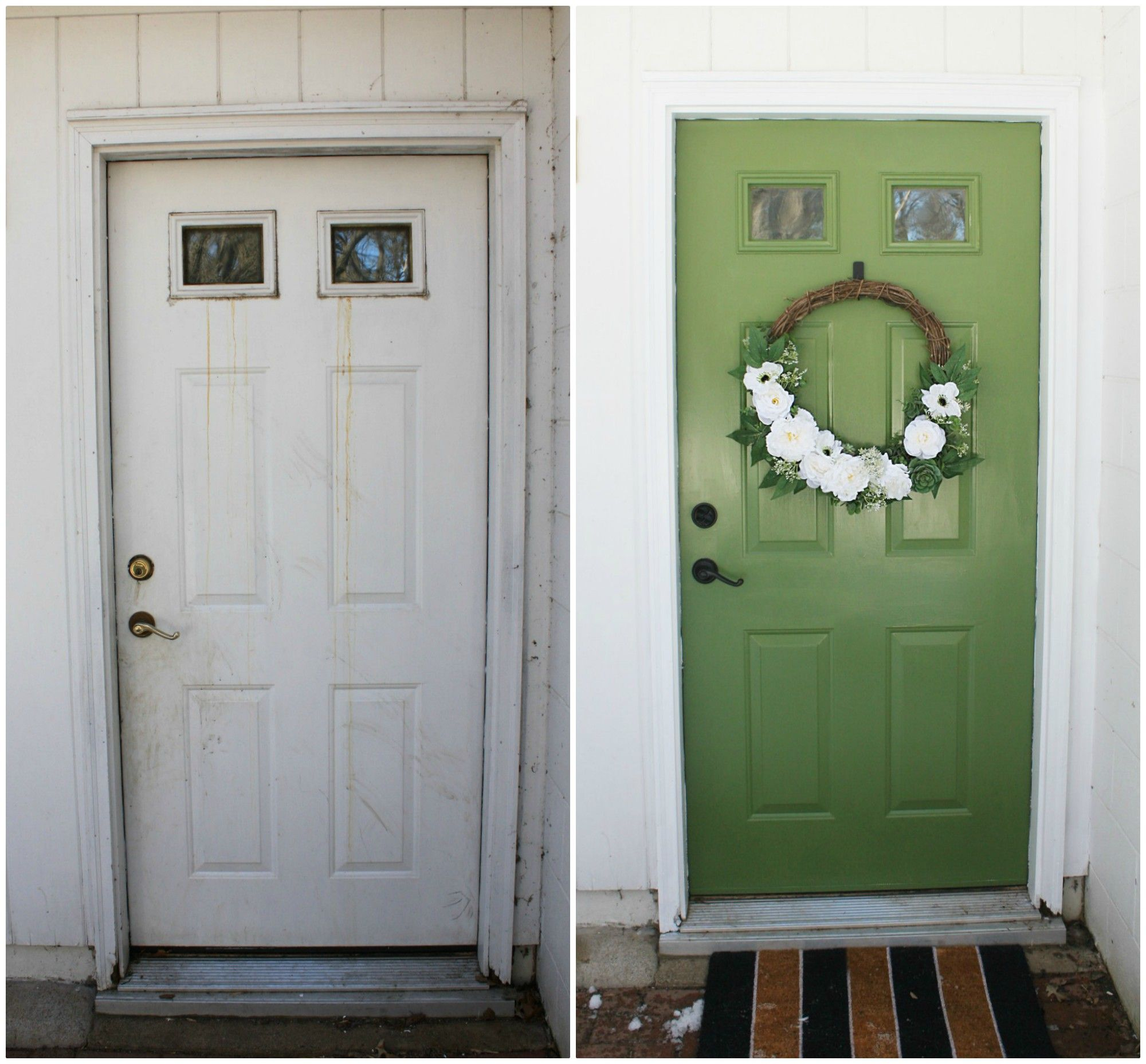 Simple Door Makeover with DecoArt CurbAppeal - One Thousand Oaks