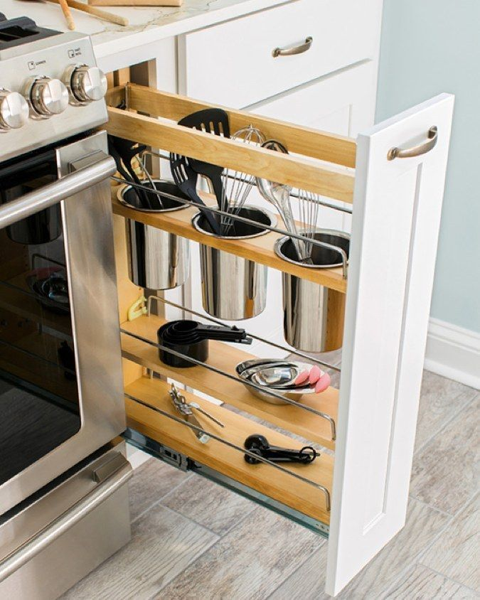 59 Extremely Effective Small Kitchen Storage Space Management Ideas ...