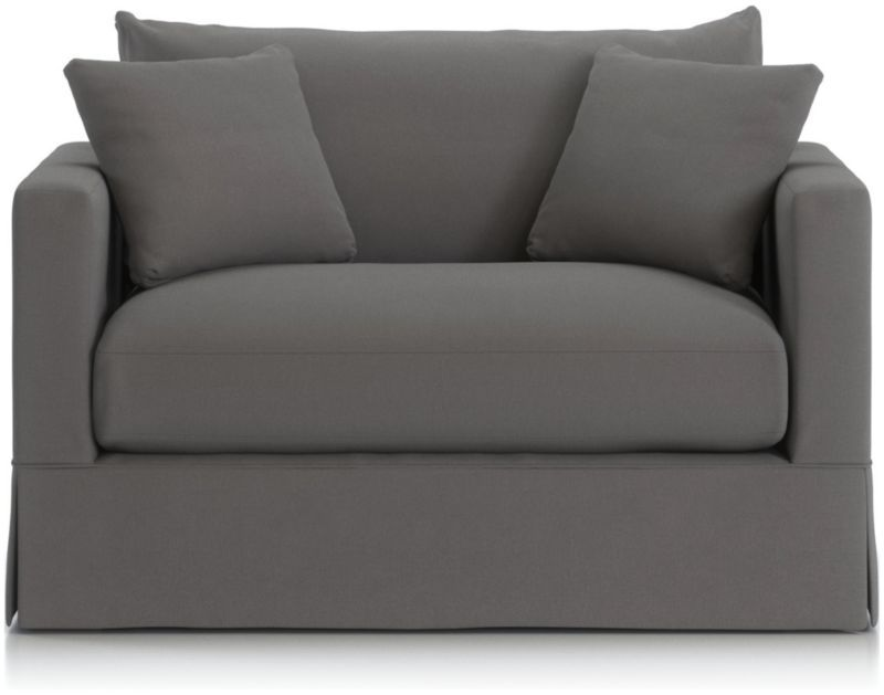 Strange Willow Modern Slipcovered Twin Sleeper Sofa Ledge Road In Cjindustries Chair Design For Home Cjindustriesco