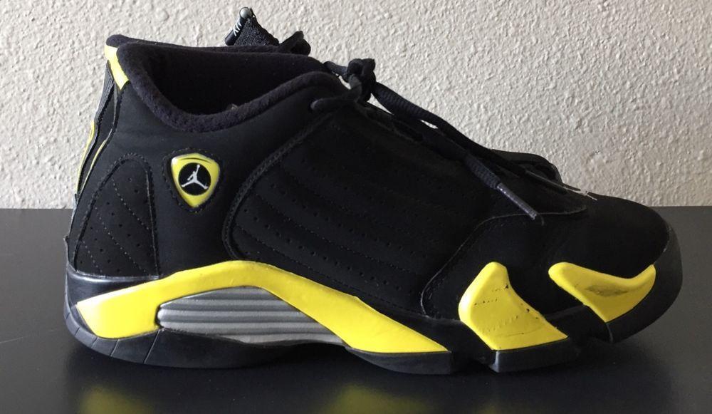 purchase cheap 38ad5 0de3e ... best air jordan 14 retro 23 black and yellow sneakers size 7 boy shoes  fashion b5a4d