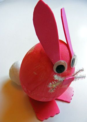 How To Decorate Polystyrene Balls This Polystyrene Egg Bunny Is A Perfect Children's Craft Activity