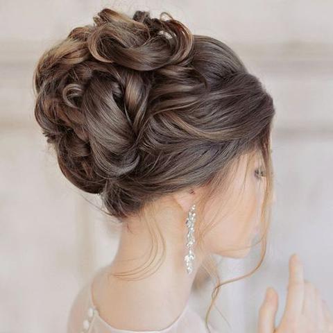 Bun Hair Extensions Upstyles Wedding