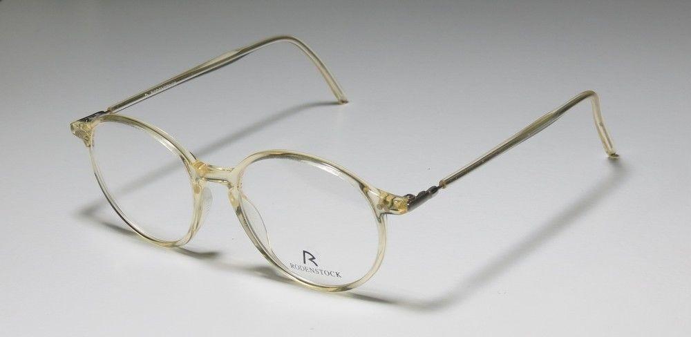 New rodenstock r8108 45-17-135 light yellow/black eyeglass frame ...