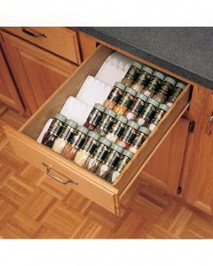 Kitchen Drawer Organizer Spice Tray Insert, Rev-a-Shelf ST50 Series #cabinetorganizers