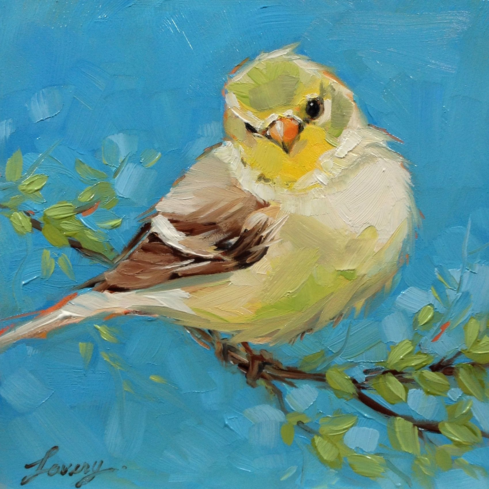 Painting Robin In Acrylics Artists Daily