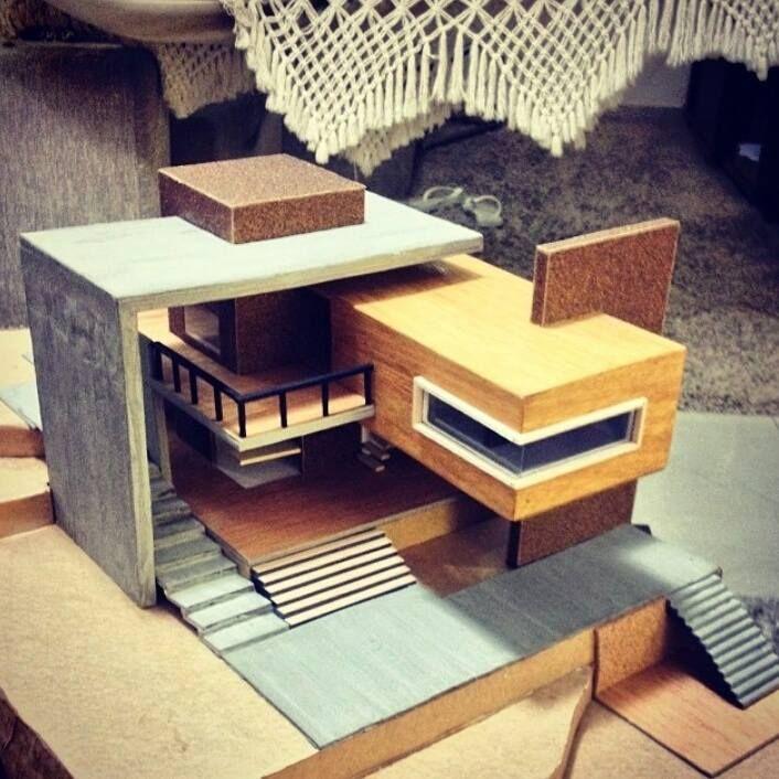 Casa moderna proyecto pinterest casas modernas for Casa moderna maqueta