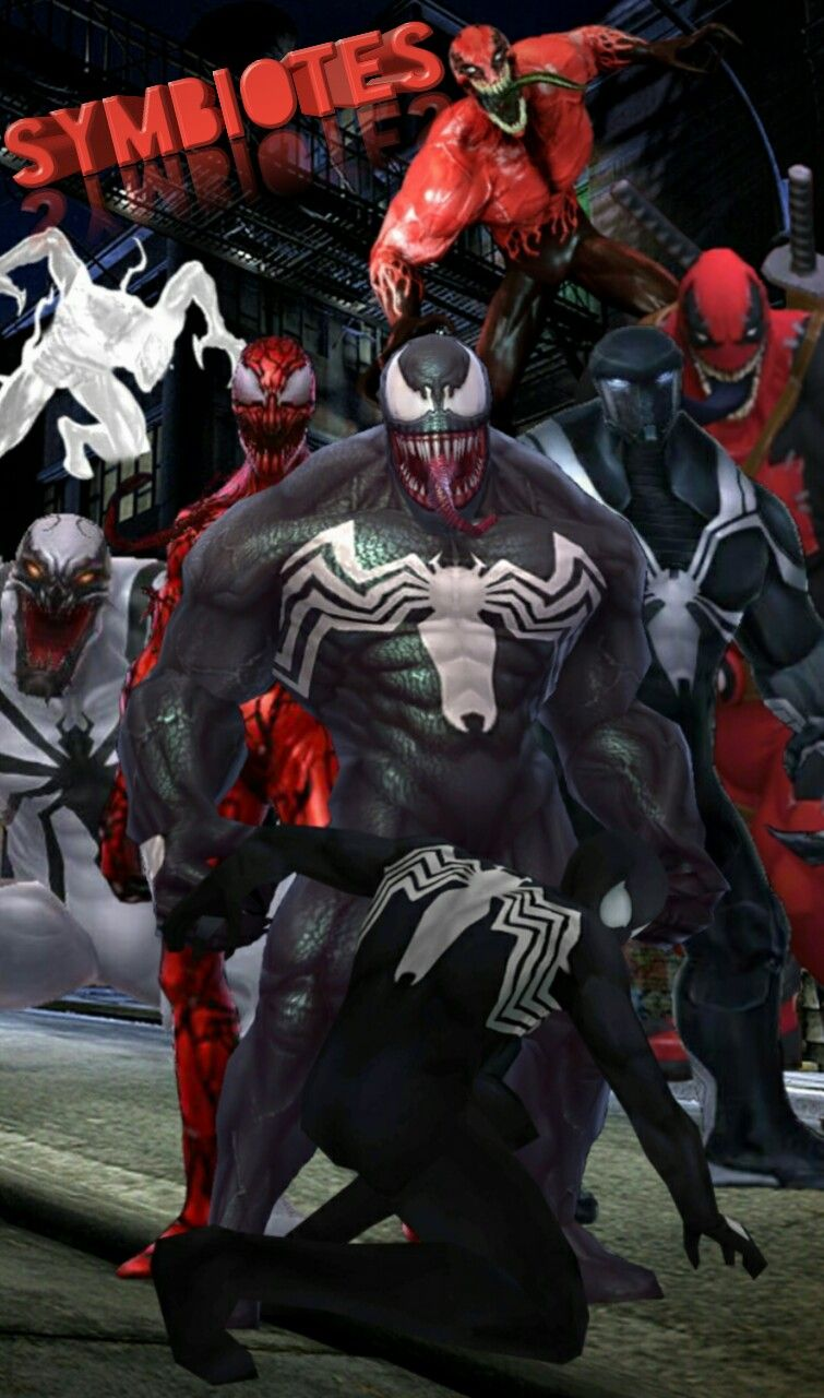 The Main Smbiotes in Marvel. (But not all of them.) -Venom ...