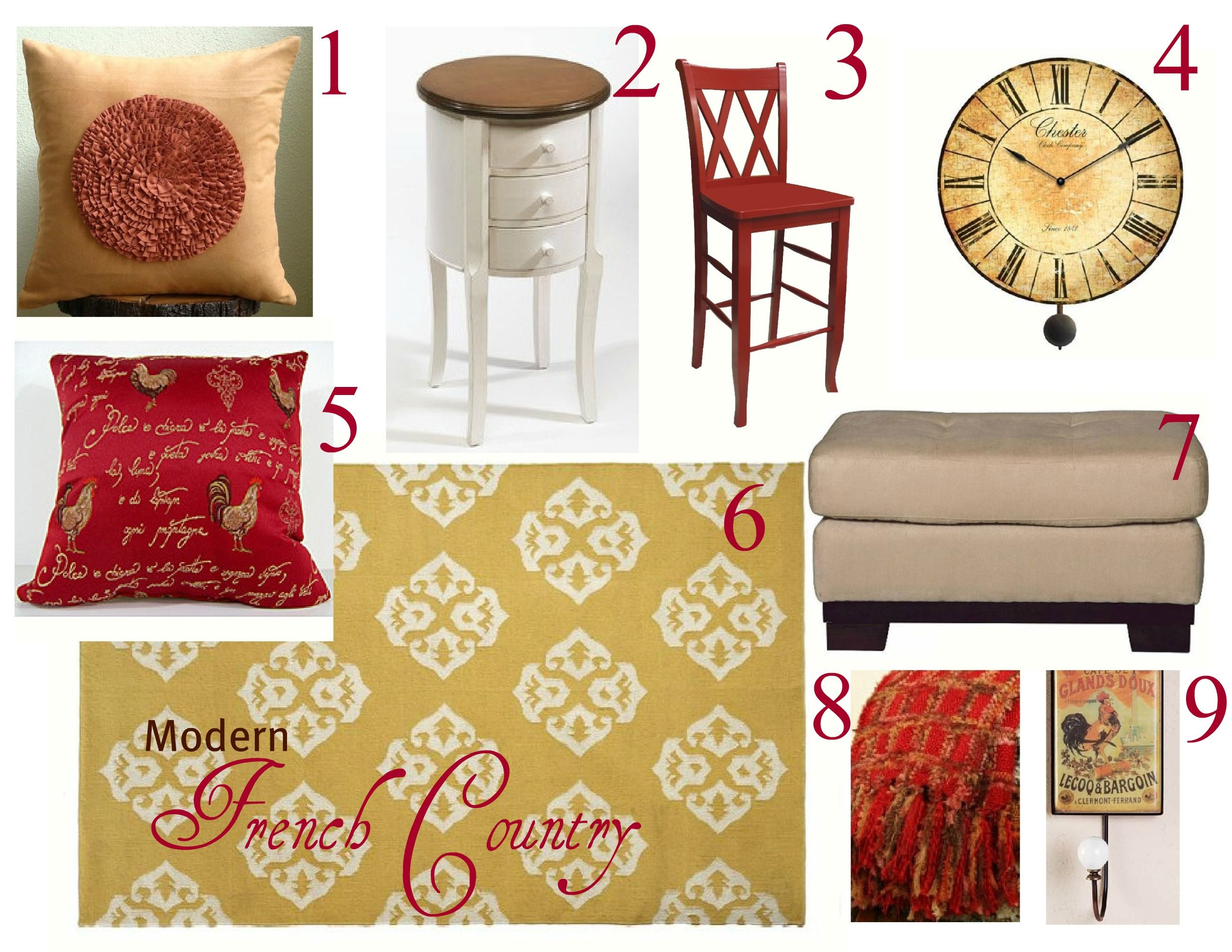 Modern French Country Mood Board In Rust & Butter Theme