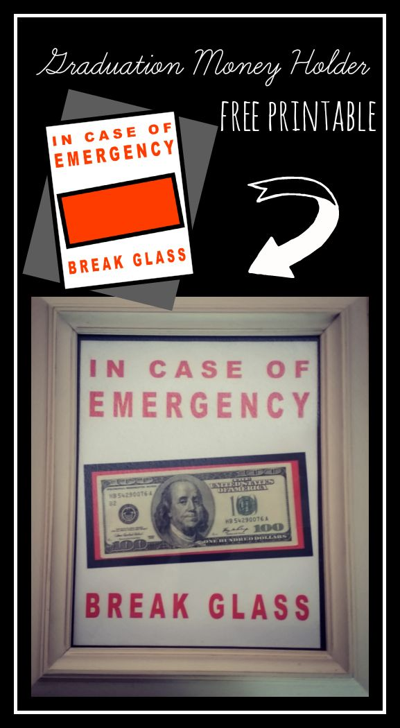 photograph regarding In Case of Emergency Break Glass Printable named Absolutely free Printable Commencement Economical Holder - \
