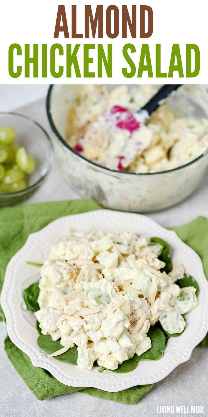 Almond Chicken Salad Recipe Almond Chicken Chicken Salad Recipe With Almonds Yummy Lunches