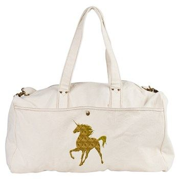 Gold Unicorn Duffel Bag