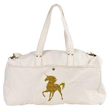 Gold Unicorn Duffel Bag