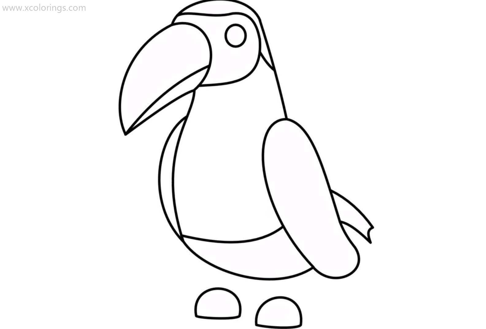 Roblox Adopt Me Coloring Pages Toucan Pets Drawing Coloring Pages Kawaii Drawings
