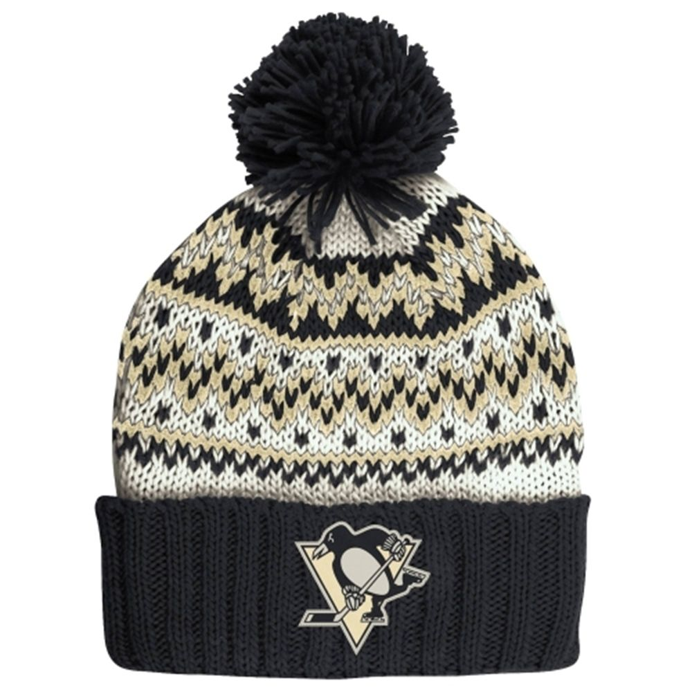 475cb0043a2 Women s Pittsburgh Penguins CCM Black Cuffed Current Knit Hat ...