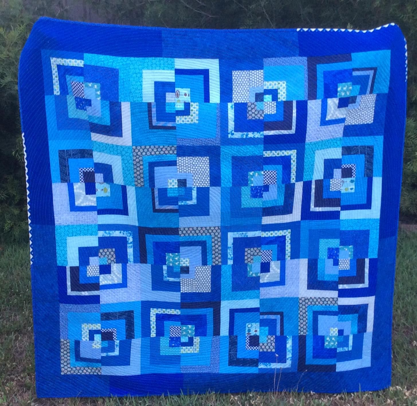 Patchy Work of Mini Grey: William's Quilt All Finished!